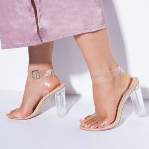 Perspex strappy clear heel